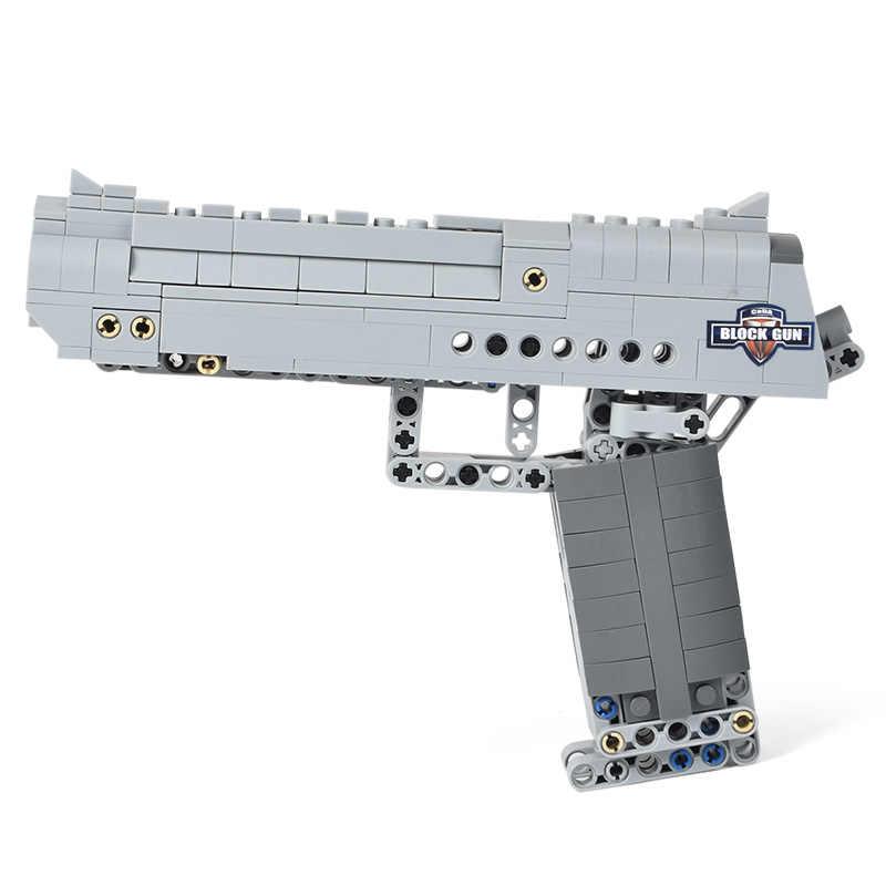 مكعبات بناء أسلحة SWAT سلاح لعبة نسر الصحراء نموذج مسدس مسدس Airsoft مع رصاصة في الهواء الطلق لعبة للأطفال هدايا