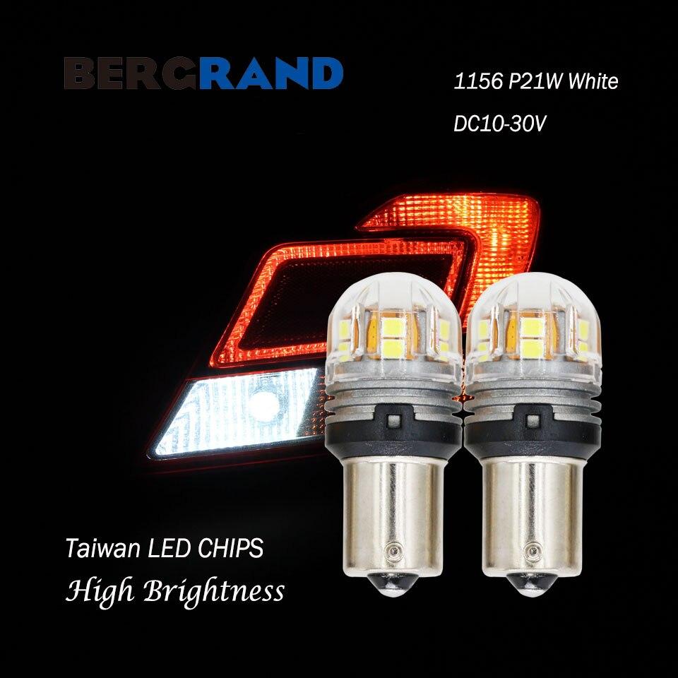 2PCS P21W LED Light Bulbs For Auto 1156 BA15s LED Bulbs R5W R10W 2835SMD Side Lights Turn Signals For Motocycle DC10V-30V White