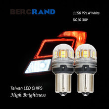 2PCS P21W LED Light Bulbs For Auto 1156 BA15s R5W R10W 2835SMD Side Lights Turn Signals Motocycle DC10V-30V White