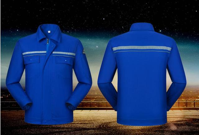 Anti-static work clothing,Factory machine static protection labor clothing, jacket and pants suit, house work apparel.