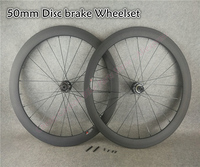 CARROWTER Bicycle disk wheelset 3K Matte Clincher 50mm disc carbon road bike wheels with 23/25mm width RUBAR Taiwan Hubs