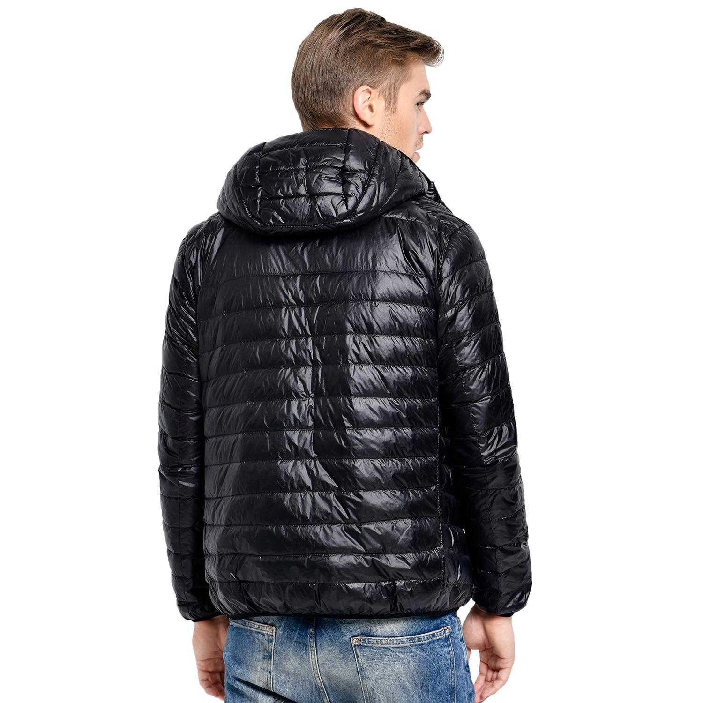 новинка 2017 года повседневная брендовая белая утка вниз куртка мужская осень-зима теплое пальто мужская сверхлегкий утка пуховик мужской ветрозащитный парка