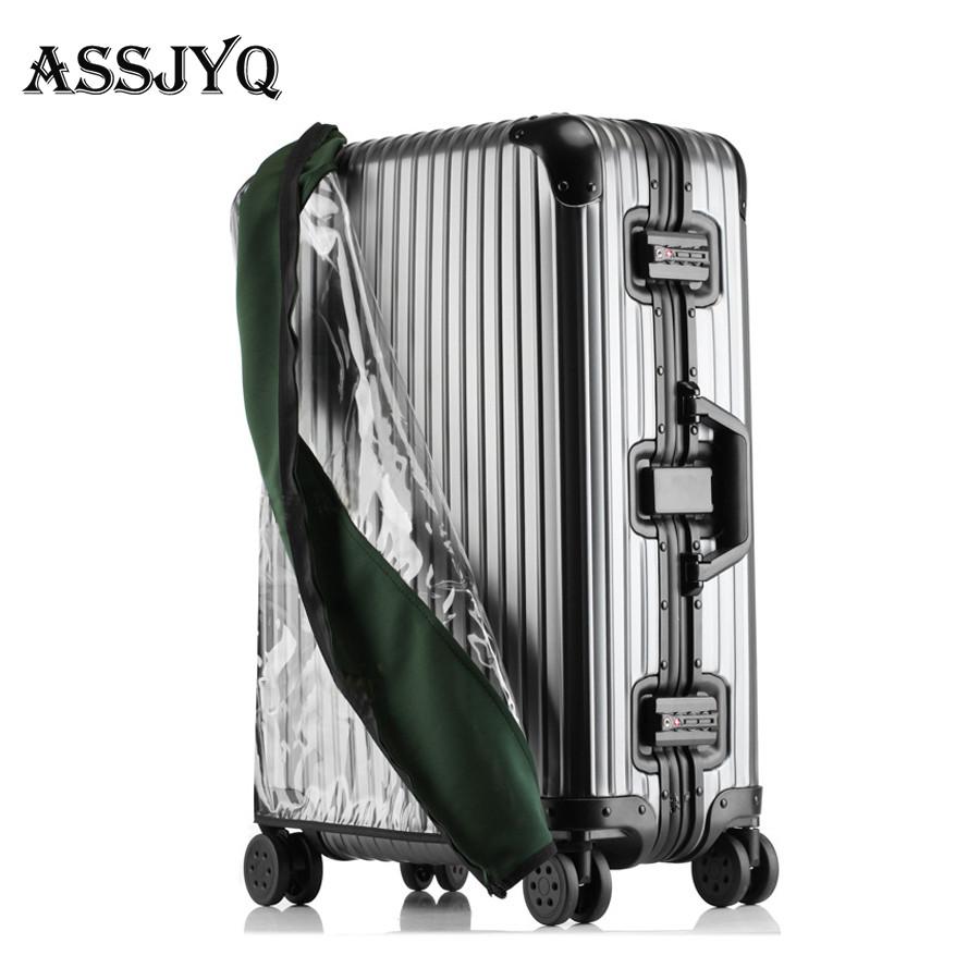 Luggage-Cover Travel-Suitcase Waterproof Trolley Elastic Transparent Rain-Bags Accessories18-30inch-Trolley