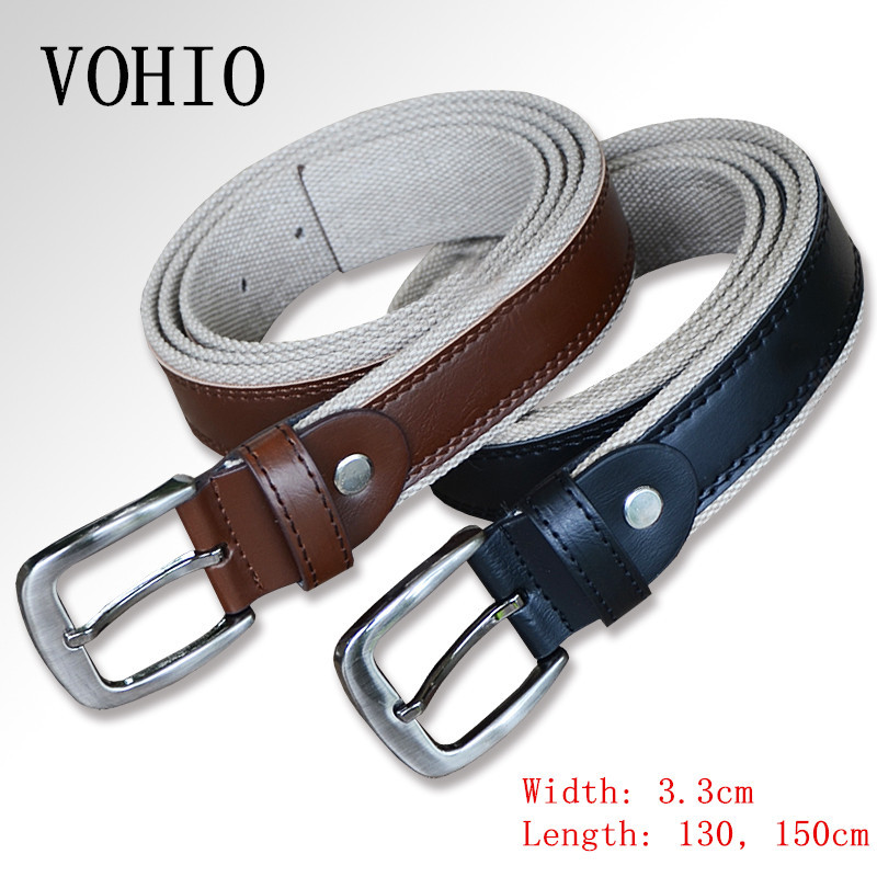 El Barco New Cowhide Leather Men Belt High Quality Luxury Designer Black Male Belts Brown Coffee Pin Buckle Waist Strap Size 125 Elegant In Style Men's Belts
