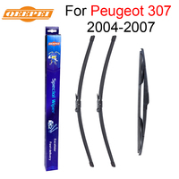 QEEPEI Front And Rear Wiper Blade No Arm For Peugeot 307 2004 2007 High Quality Natural