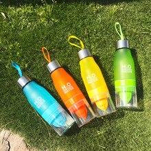 Nuevo Regalo de Navidad 650 ml Mi Botella de Agua de plástico botella de infusión de Frutas Jugo De limón Infusor Bebida Deportes Al Aire Libre de Agua Portátil hervidor de agua