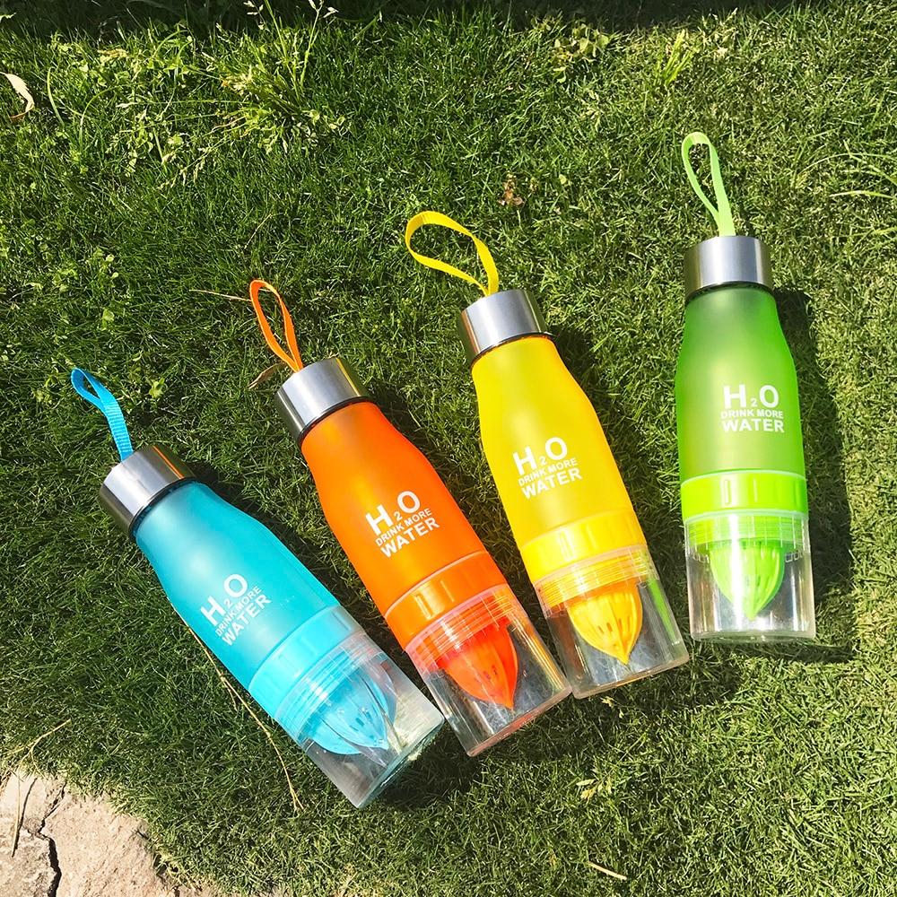 New Xmas Gift 650ml Water Bottle plastic Fruit infusion bottle Infuser Drink Outdoor Sports Juice lemon Portable Water kettle
