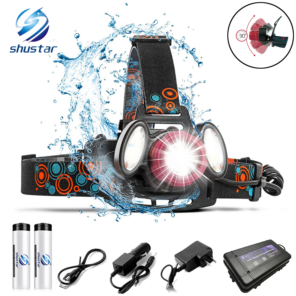 Super Bright Led Headlamp T6+Cob Led Headlight 4 Lighting Modes Zoomable For Fishing, Night Riding, Camping, Adventure, Etc