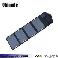 5V 14W Portable Folding Solar Panel Charger Mobile Phone Charging Treasure Universal Outdoor Mobile Power Solar