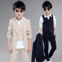 Big Boys Blazer Suits for Weddings Children Jacket+Vest+Pants 3 pieces/set Costume for Marriage Kids Formal Blazer Clothes EB078