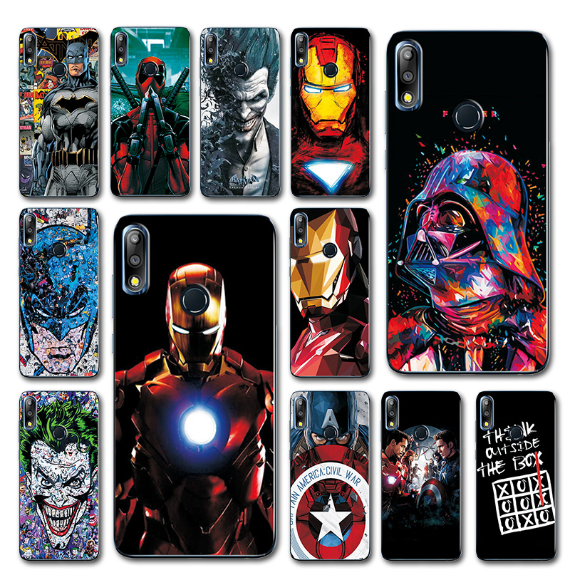 Captain America Phone Case For ASUS Zenfone Max Pro M2 ZB631KL Novelty Avengers TPU Cover Case For Asus Zenfone Max M2 ZB633KL