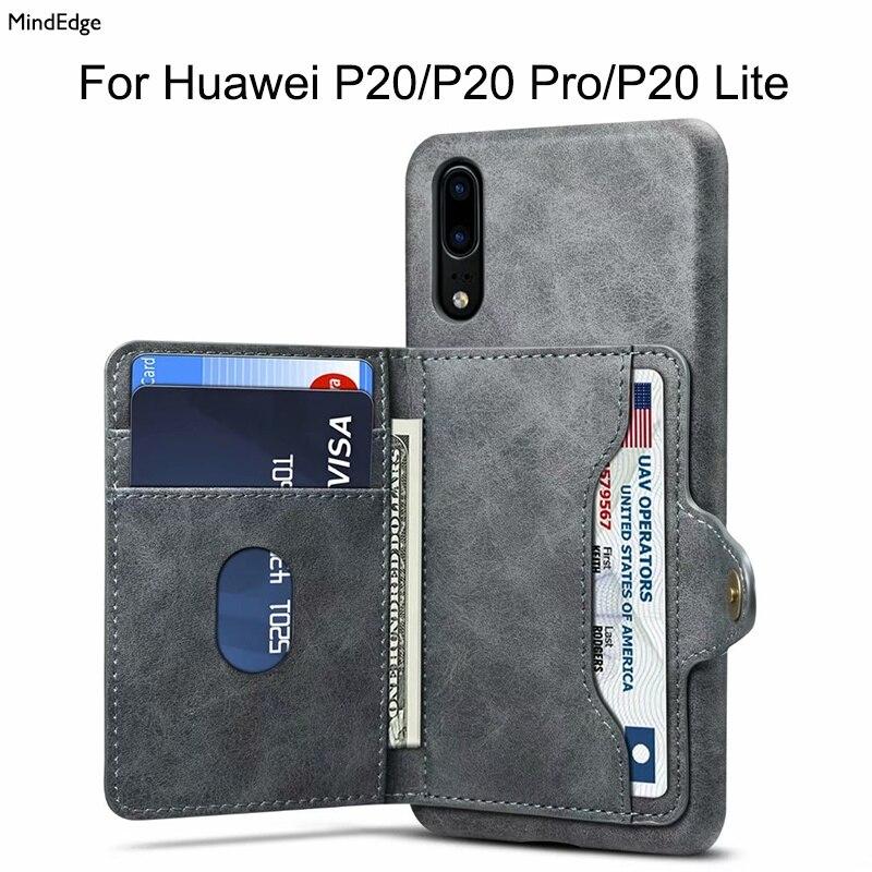 Multifunktions Karte Halter Leder Stehen Zurück Abdeckung Fall für Huawei P20 P20 Pro P20 Lite Fall Brieftasche Stoßfest Telefon Beutel funda
