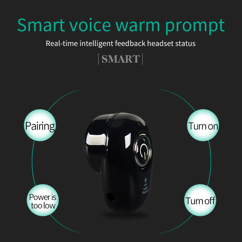 Mini kulaklık In-kulak gizli telefon kulaklık kulaklık için iOS/Android Bluetooth 4.1 iş konuşma Mp3 müzik oyun spor S650 PK S530