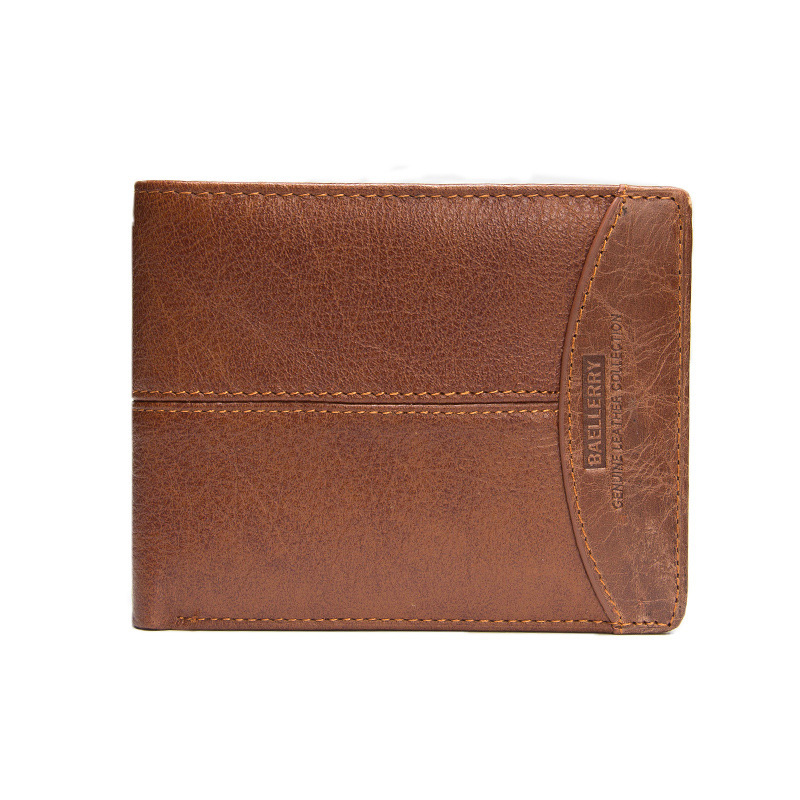 Genuine Real Leather Men Mini Wallet New Pattern Cowhide Short Coin Wallets And Purse Plastic Credit Card Holder New Style 2016 new 100% genuine real python skin leather long size men wallets and purse beige black color zipper coin pocket card holder