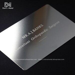 Image 2 - התאמה אישית קעור קמור מגזרת איכות נירוסטה עסקים מתכת כרטיס מתכת כרטיס ביקור מתכת כרטיס חבר desig