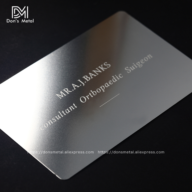Closeout DealsPersonalizing concave convex cutout quality stainless steel business metal card Metal business card metal membership card desig