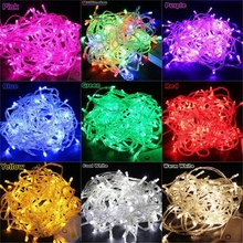 KZKRSR AC110V /220V 10m 20m 30m 50m 100m Outdoor Waterproof Led string Light for Christmas Tree Wedding Party Garland Decoration