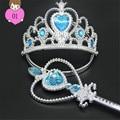 Meninas Vestido de Princesa Vestido de Casamento Festa de Crianças Coroa Varinha Mágica Flor Headwear Accessaries Jogo
