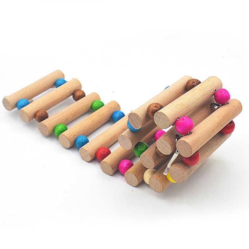 12 Вт/18/30 см деревянная подвесная лестница для попугая качели для птица Крыса, хомяк инструмент 1 шт. Animal Bridge площадка клетка игрушки