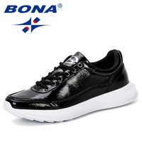 BONA 2019 Spring Autumn Casual Shoes For Men Sneaker Shoes Lace Up Flats Leisure Anti Slippery Shoes Man Walking Shoes Trendy
