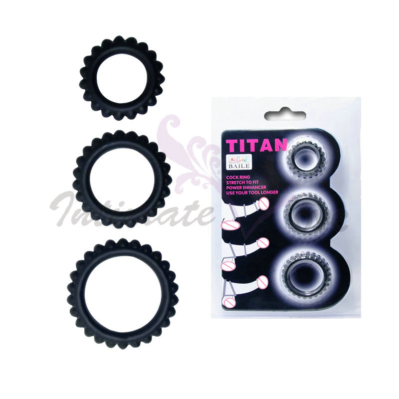 Buy Baile Power Enhancer Soft Stretchy Silicone Cockring Delay Erection Penis Rings Set Men Erotic Sex Products
