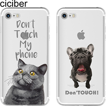 ciciber Animal French Bulldog British Shorthair Cat Soft Silicon Phone Cases Cover for IPhone 6 6S 7 8 Plus 5S SE X Capinha