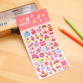 Cartoon Stickers Kids Toys Dimensional 3D DIY Kawaii Diary Decoration  Bubble stickers gift Funny Creative Cute