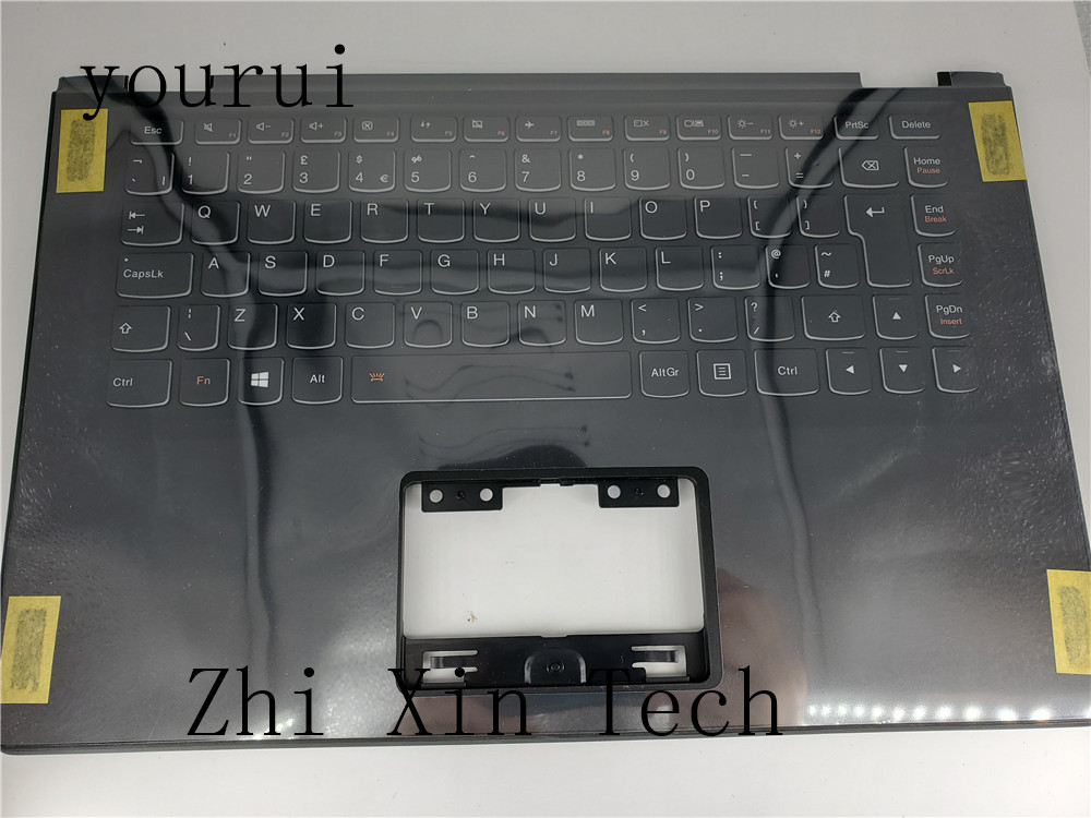 yourui High quality For <font><b>Lenovo</b></font> <font><b>Yoga</b></font> <font><b>2</b></font> <font><b>13</b></font> Laptop Palmrest Top case upper cover with uk <font><b>keyboard</b></font> Black image