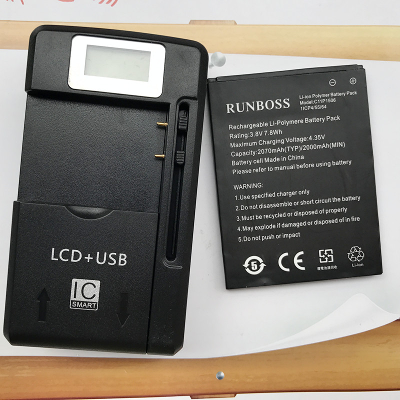 C11P1506 2070mAh Battery For Asus Live G500TG ZC500TG Z00VD ZenFone Go 5.5 inch Cell Phone Battery With LCD Wall Charger