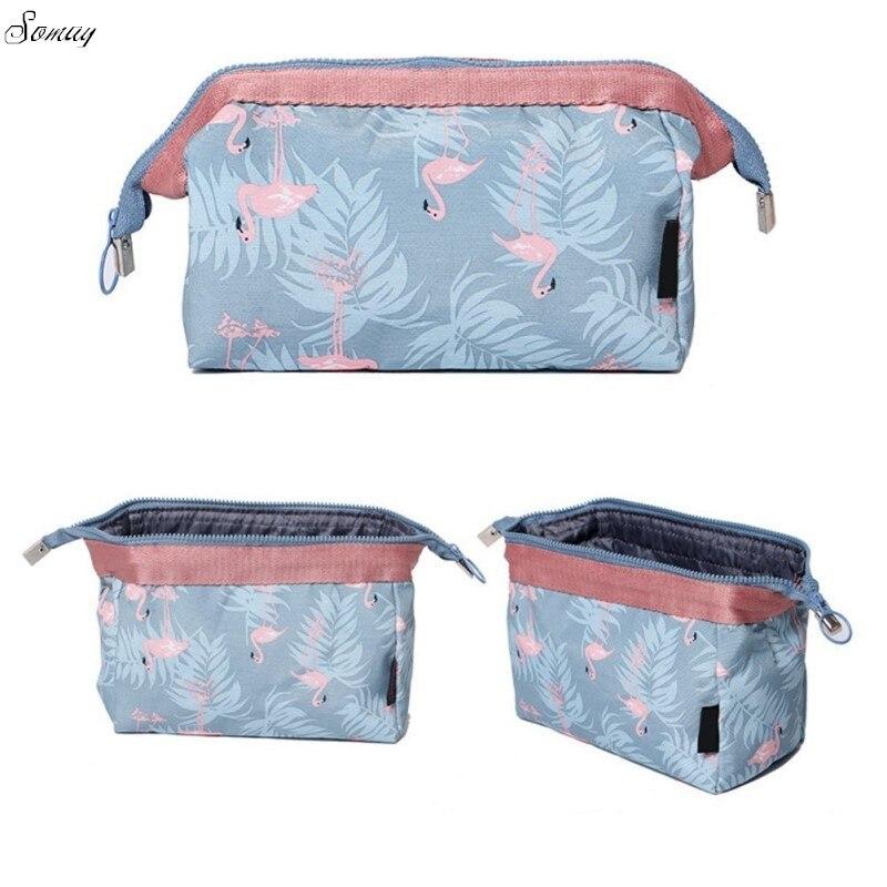 New Fashion Flamingo Large Capacity Travel Organizer Makeup Bag Cosmetics Bag Stuff Handbag Cosmetic Kit Storage Bag drop ship цена