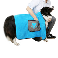 Pet Dog Bathrobe Super Absorbent Pet Drying Towel Cat Dog Pet Cleaning Accessories Pets Drying Towel Bathrobe Blanket