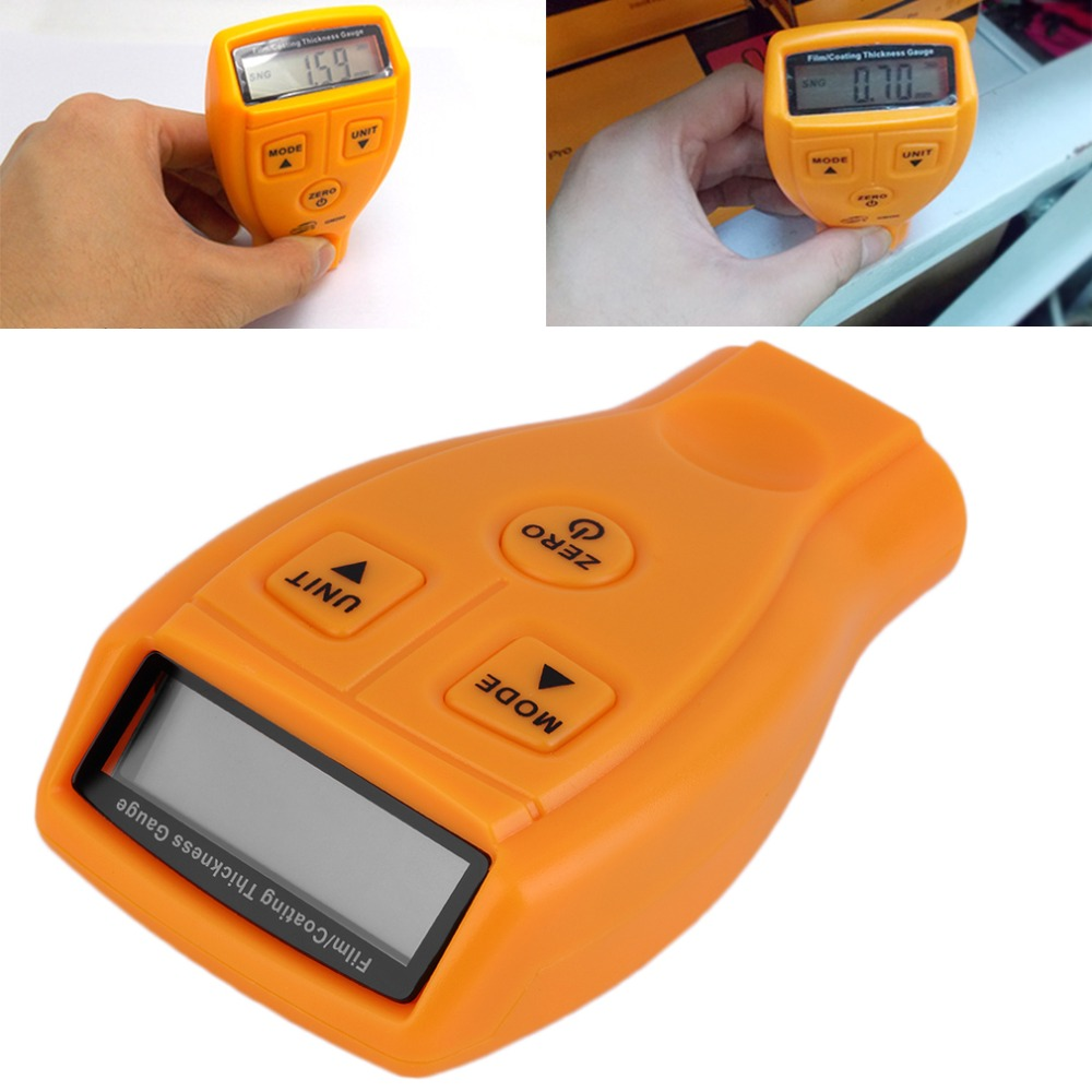 GM200 Revestimento Revestimento de Pintura Medidor de Espessura Testador Ultrasonic Mini Película do Verniz para medir Calibre Pintura Do Carro Manual de Inglês