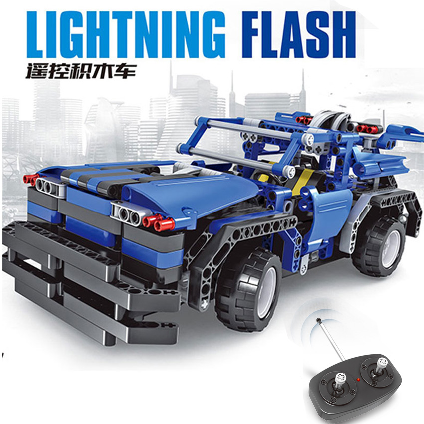 443pcs 2in1 Transform Car Assemble RC Car Build Stacking Blocks Car Kit Track Race Car Set education Toys Gift for children boy glow race track bend flex glow in the dark assembly toy 112 160 256 300pcs slot race track 1pc led car puzzle educational toys