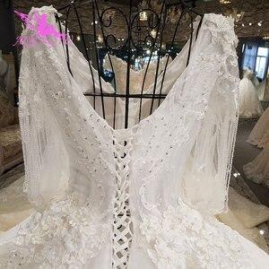 Image 5 - AIJINGYU חתונה שמלת 2021 2020 Luxuris שמלות בריטניה גואנגזו גותי שמלות למעלה שמלת כלה
