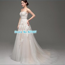 Fast A Line Wedding Dress Vestidos Appliques Sweetheart