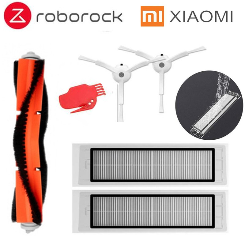 Suitable for XIAOMI Robot Vacuum Part Pack of HEPA Filter, Main Brush, Side Brush for Xiaomi mijia / roborock Vacuum Cleaner fry s store vacuum cleaner parts for xiaomi mijia roborock robot vacuum part pack 1 2pcs hepa filters the lowest price