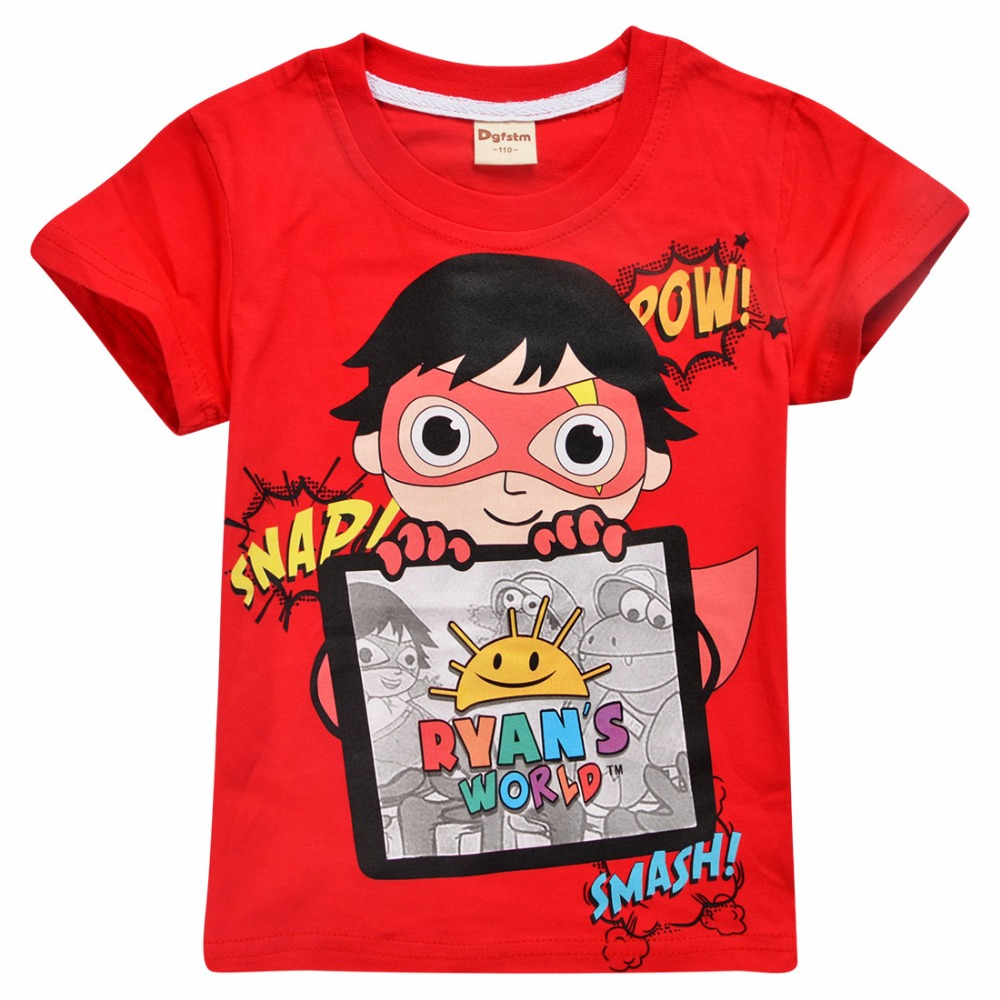 UK Kids Boys Girls Ryan Toys Review 100/% Cotton Casual Short Sleeve T-Shirt Tops
