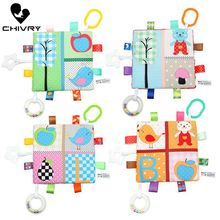 Chivry 19cm*19cm Baby Comforting Supplies Blanket Super Soft Square Plush Appease Towel Toys Handbells Teether