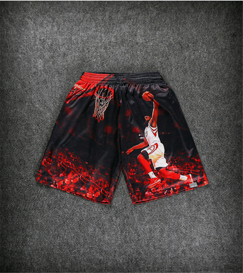 summer New men s 3D print American pros jordan LeBron James shorts harajuku casual shorts hip