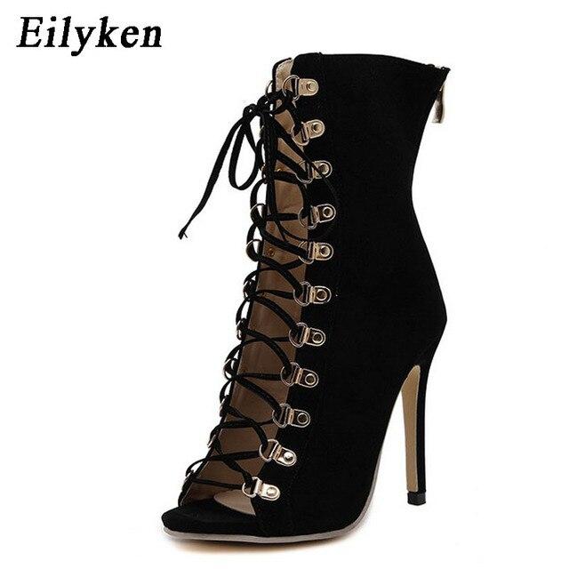 Eilyken Sexy Catene Corda Sandalo Strappy Alto Tacco Alto Strappy Sandalo   1c74ea