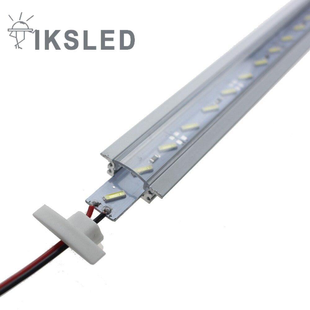 2pcs 5050 tegar yang diketuai jalur 50cm / pcs DC12V cahaya bar LED - Pencahayaan LED - Foto 5
