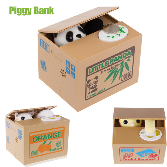 Cat Panda Automatic Stealing Coin Cat money box