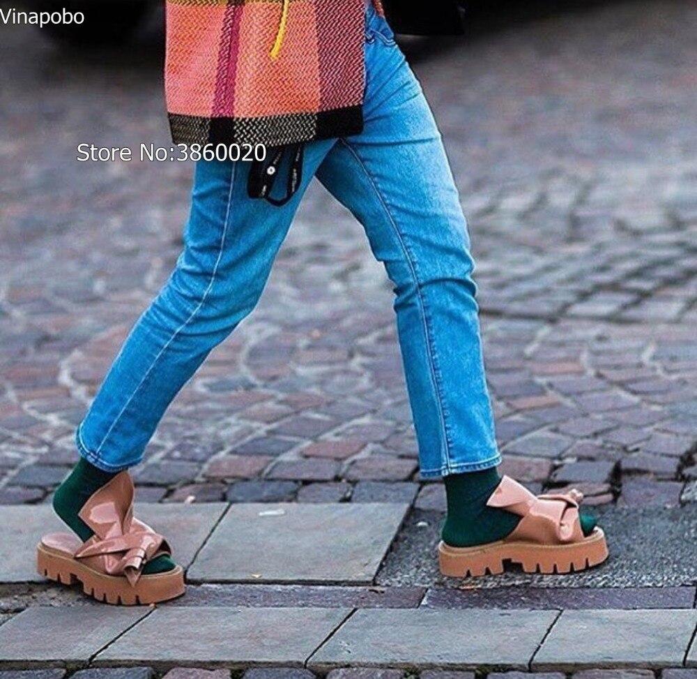 Plataforma Zapatos The as Verano Mariposa Toe Vinapobo Picture Mujer Italiano Planos Mujeres Plana Diapositivas Casual Abierta Zapatillas As Playa Slides Estilo Picture nudo 6FHYq7