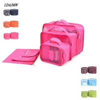 6PCS Set Travel Bag In Bag Waterproof Clothes Suit Business Travel Luggage Bag Shoes Clothing Underwear