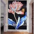 Herrlichen Blumen Glas Mosaik-fliesen Moderne Kunst Wandbild