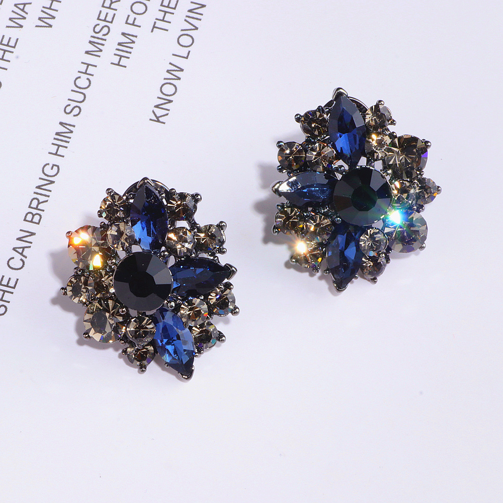 Classical Vintage Bohemian Style Big Earrings Charming Crystal Stud Earrings For Women 2019 Fashion Jewelry Femme Brincos WX224