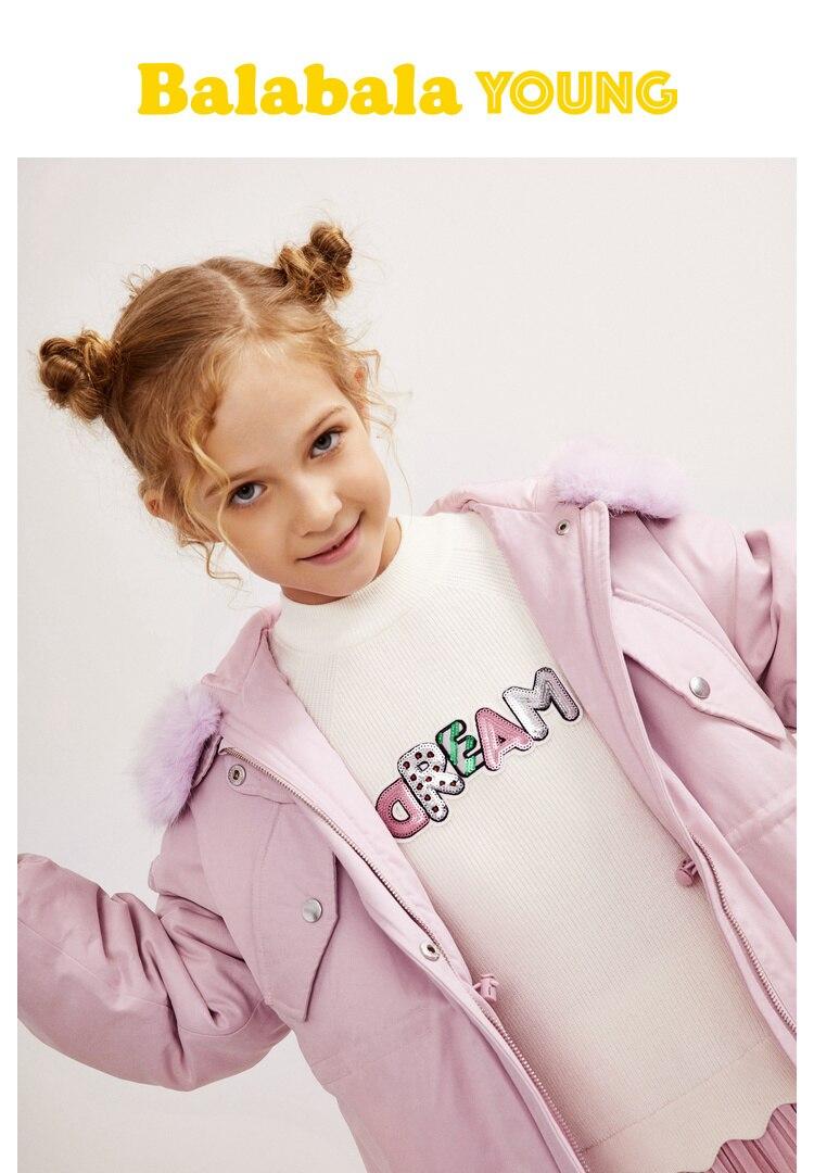 dfc60705b 🛒 Balabala Girl Unicorn Padded Jacket with Detachable Faux Fur ...
