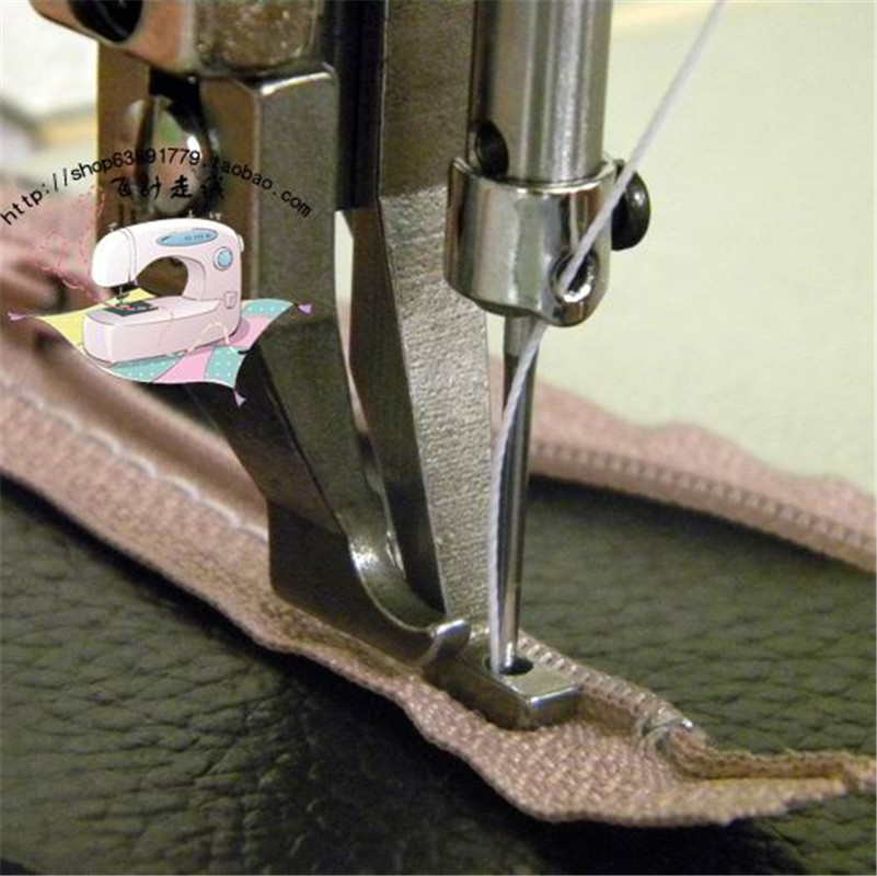 Industrial Walking Foot Sewing Machine Zipper Presser Foot, For Thick Material, Inner And Outer Presser Foot