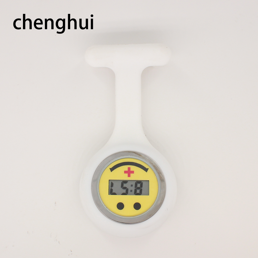relogi Digital Nurse Watch Fashion Silicone Medical Watches Lapel Doctor Brooch fob watch unisex relogio feminine masculino gift in Pocket Fob Watches from Watches