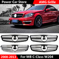 Neue stil W204 AMG C63 Grille für Mercedes W204 C Klasse vor stoßstange racing grille C180 C200 C250 C300 mode aussehen 2008 2014-in Rennauto-Kühlergrill aus Kraftfahrzeuge und Motorräder bei